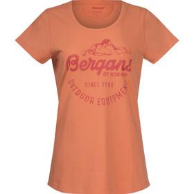 Bergans Classic Bluzka z krótkim rękawem Kobiety, cantaloupe/brick